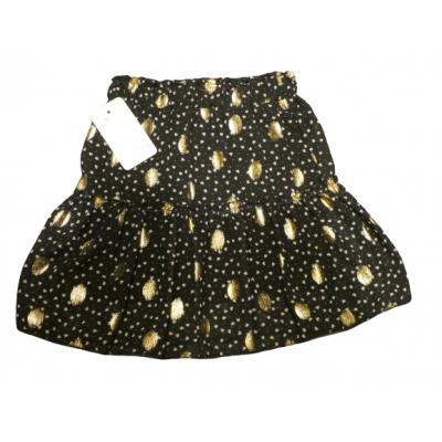 zwarte rok met witte hartjes en gouden dots