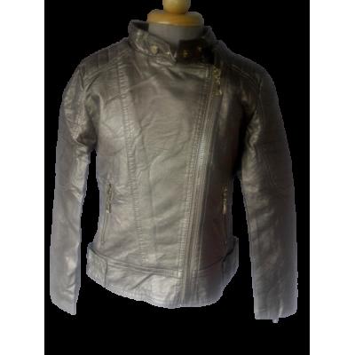 Brons kleur leder look jas