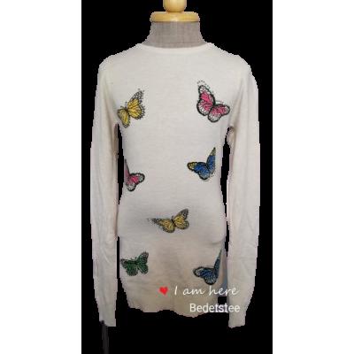 creme vlinder tuniek/jurk