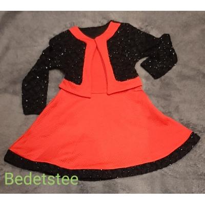 Rood Zwart kerst jurkje