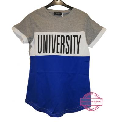 Stoer grijs wit blauw shirt