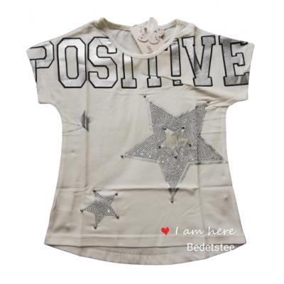 Stoer wit shirt met zilveren sterren