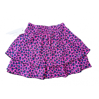 roze panter print stroken rok