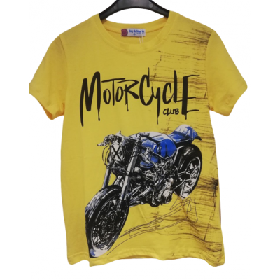 Gaaf geel shirt met motor