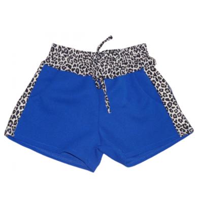 Blauwe korte broek met panter print