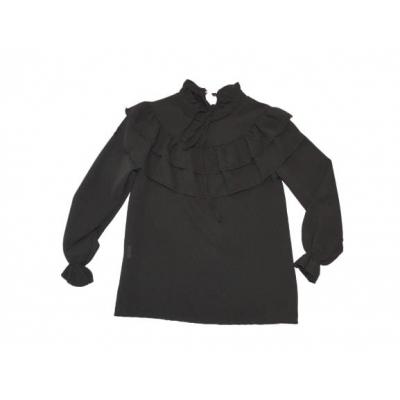 mooie zwarte chiffon blouse