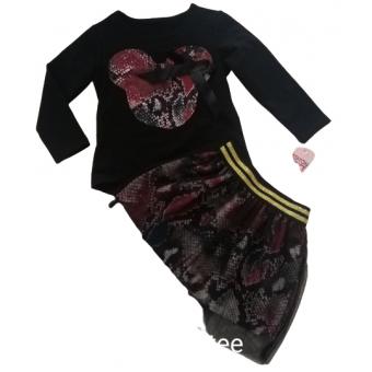 super set rood rok met tulle en Mini Mouse