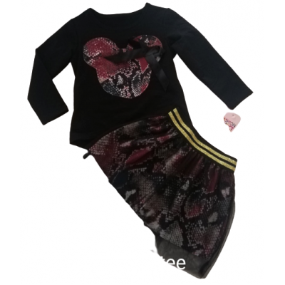 super set rood rok met tulle en Mini Mouse