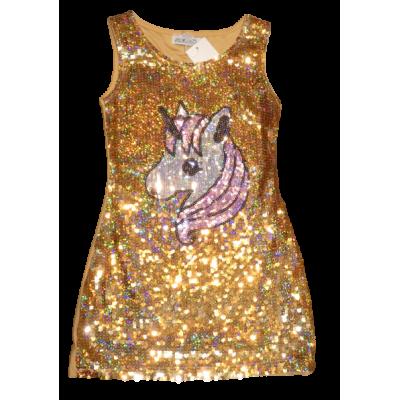 gouden kerst feest jurk eenhoorn