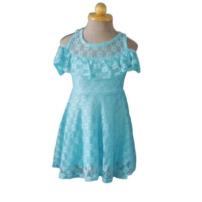 Blauwe kanten zomer jurk