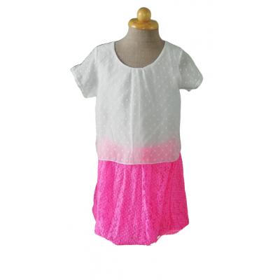 roze witte zomer jurk