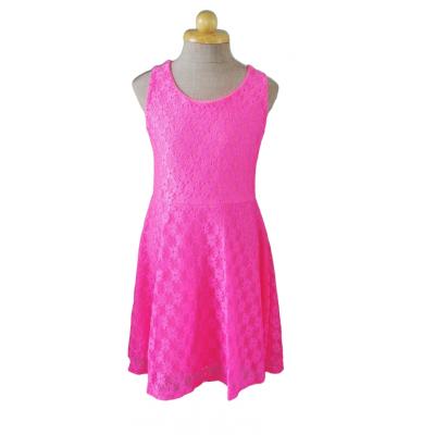 Knal roze kanten jurk