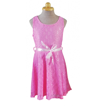 roze kanten zomer jurk