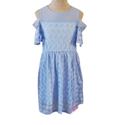 Lavendel blauw kanten jurkje