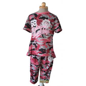 roze army print set