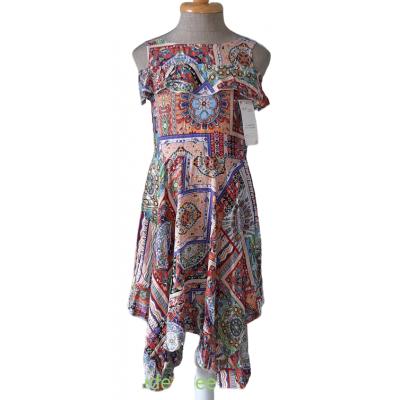 gekleurde zomer jurk