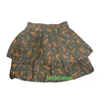 leger groene stroken rok met Cheeta's