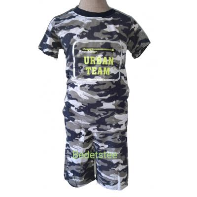 Army print zomer set grijs blauw