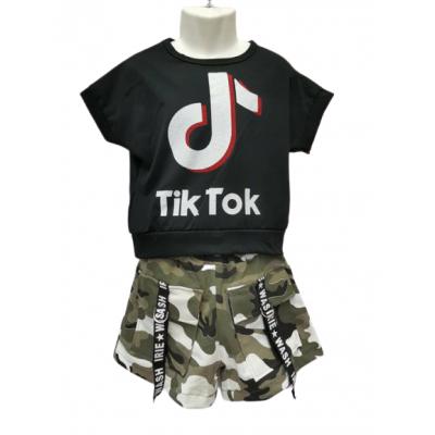 Tik Tok zwart army zomer set