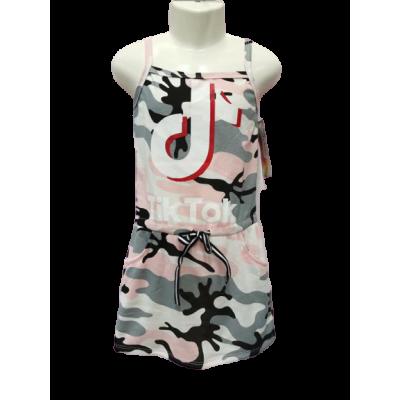 TIK TOK army print zomer jurkje