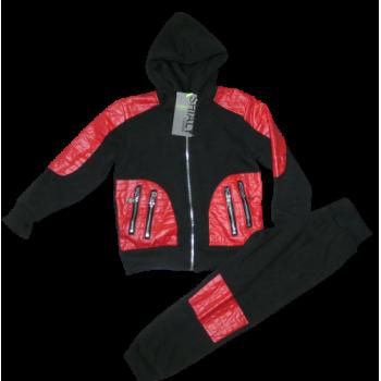 Rood zwart stoer joggingpak