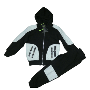 Wit zwart stoer joggingpak