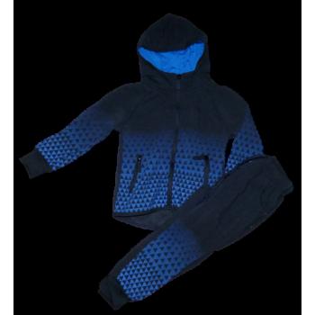 donker blauw pak met blauwe blokjes