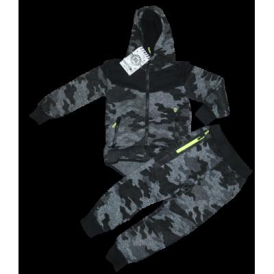 Grijs army print joggingpak