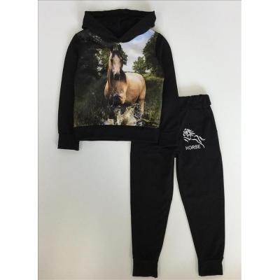 paarden joggingpak zwart