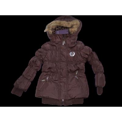 Bruine winterjas Emoi