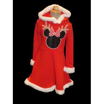 rood Mini Mouse kerst jurk
