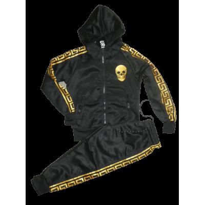 zwart met goud joggingpak, scully/doodshoofd
