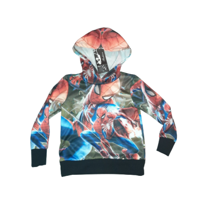 Spiderman sweater, all over print