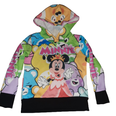 mini mouse, allover print sweater hoodie