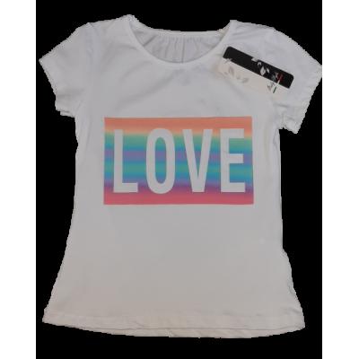 Wit LOVE pastel regenboog shirt