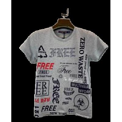 Grijs shirt met tekst