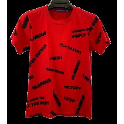 """rood """"tekst"""" shirt"""