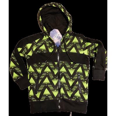 zwart met groen stoer vest