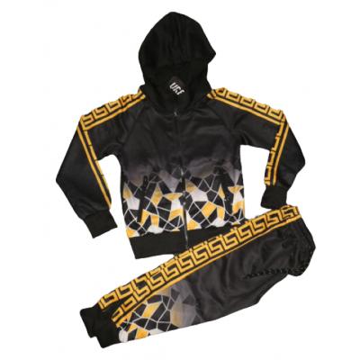 geel/goud zwart joggingpak
