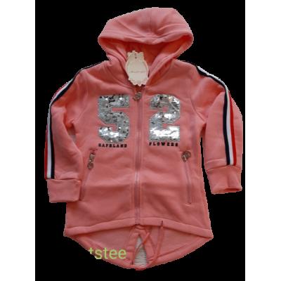zalm roze fleece vest