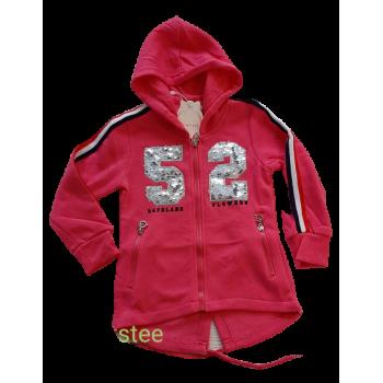 Roze fleece vest
