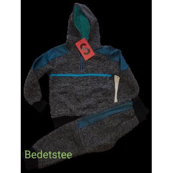Stoer grijs blauw joggingpak