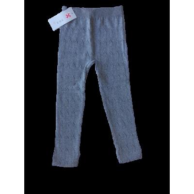 Prachtige grijze bewerkte warme legging