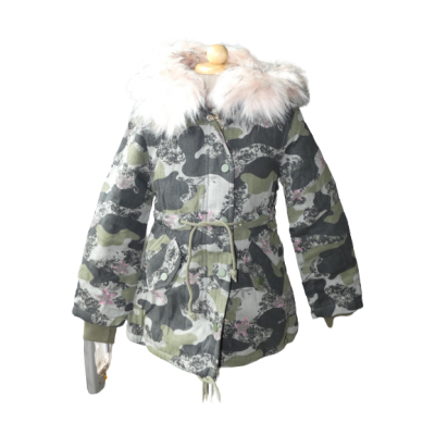 Stoere winter jas, army print