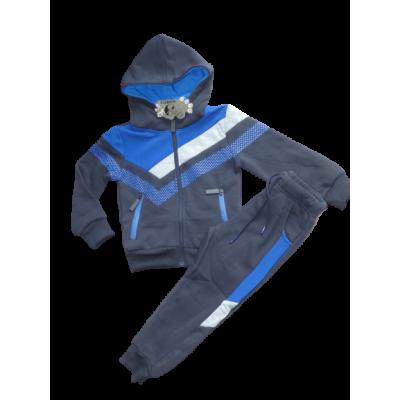 Stoer blauw grijs joggingpak