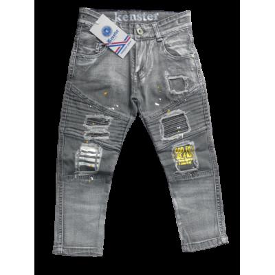 Stoere grijze spijkerbroek