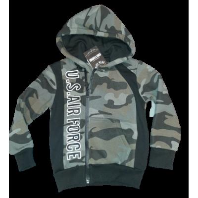 Stoer groen army print vest
