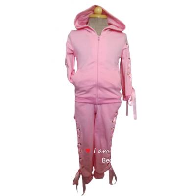 roze joggingpak met linten