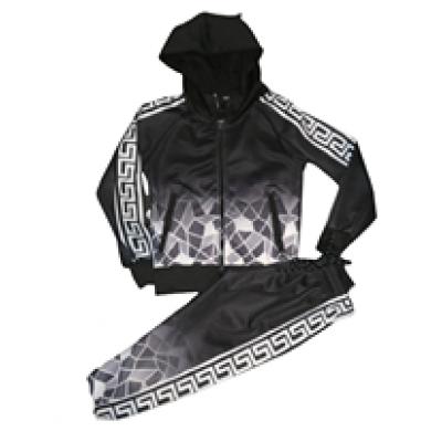 zwart wit joggingpak